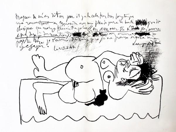 Pablo Picasso, Hommage a Goerges Braque, 1964. Litografia originale scritta in lastra. (mm. 272x360)