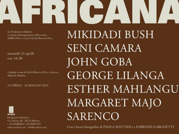 Africana, Fondazione Mudima, Milano