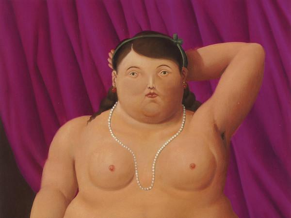 Fernando Botero, Donna seduta, 1997. Olio su tela, 134x92 cm.