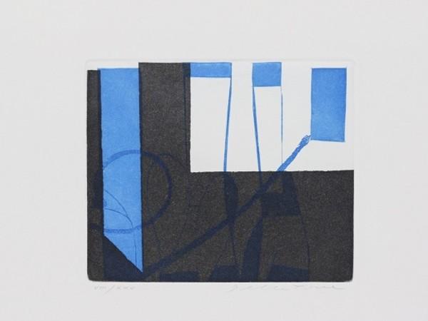 Enrico Della Torre, Blu nero, 2000. Acquaforte, bulino e acquatinta
