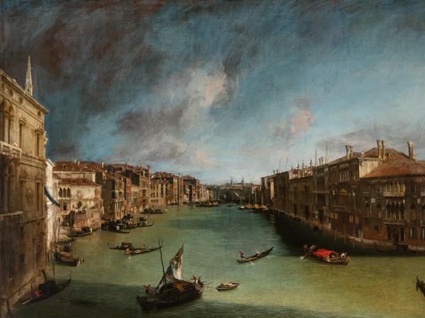 Antonio Canal detto Canaletto, <em>Il Canal Grande da Palazzo Balbi verso Rialto</em>, Olio su tela, 207 x 144 cm, Venezia, Ca' Rezzonico, Museo del Settecento veneziano