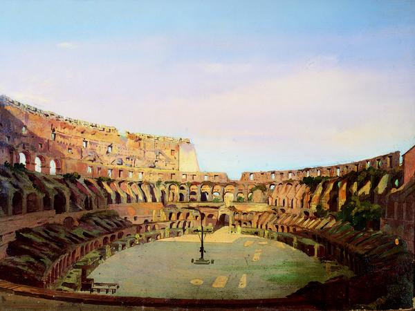 Ippolito Caffi, <em>Interno del Colosseo</em>, 1857, Olio su tela, Roma, Museo di Roma Palazzo Braschi | © Roma Capitale, Sovrintendenza Capitolina ai Beni Culturali, Archivio fotografico del Museo di Roma<br />