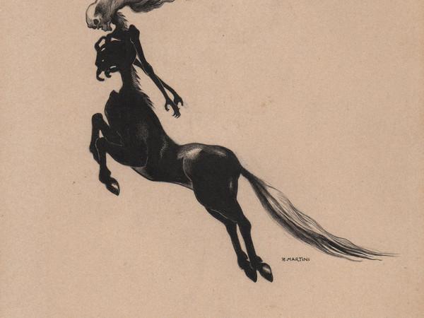 Alberto Martini, Metzengerstein, 1908-1909, china su cartoncino