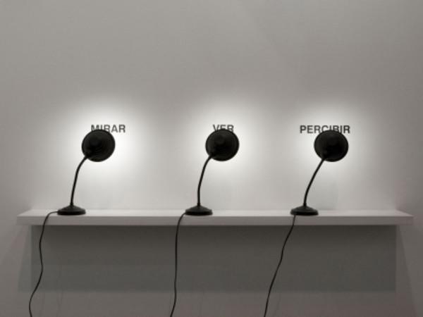 Antoni Muntadas, Mirar Ver Percibir, 2009. Veduta di allestimento presso Galería Joan Prats, Arco XVIII, Feria Internacional de Arte Contemporáneo, Madrid, Spain 2009