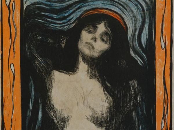 Edvard Munch, Madonna 1896 litografia, 60,5 x 44,7 cm Ars Longa, collezione Vita Brevis © The Munch Museum / The Munch-Ellingsen Group by SIAE 2013.