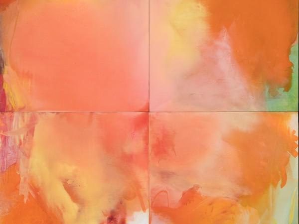 Italo Bressan, Solaris, 1996, tecnica mista su tavola, 200x200