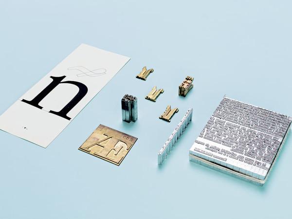 Materiali produzione, carattere tipografico con Linotype