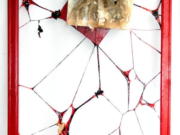 Vincenzo Vavuso, Il lettore, cm. 70x50, pittoscultura, fusione e cristallizzazione