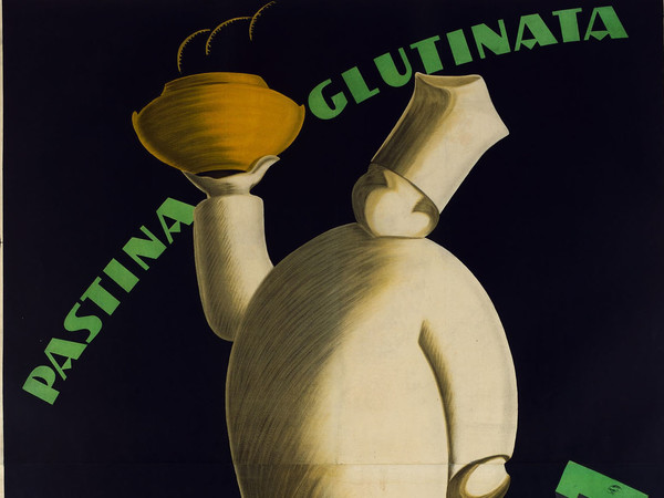 Federico Seneca, Manifesto pubblicitario, <em>Pastina glutinata Buiton</em>i, 1929, Carta/cromolitografia, 140 x196.5 cm, Museo Nazionale Collezione Salce, Treviso