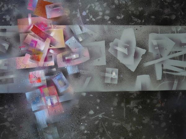 Walter Bernardi, Senza titolo, 2019, t.m. su tela, cm, 70x70