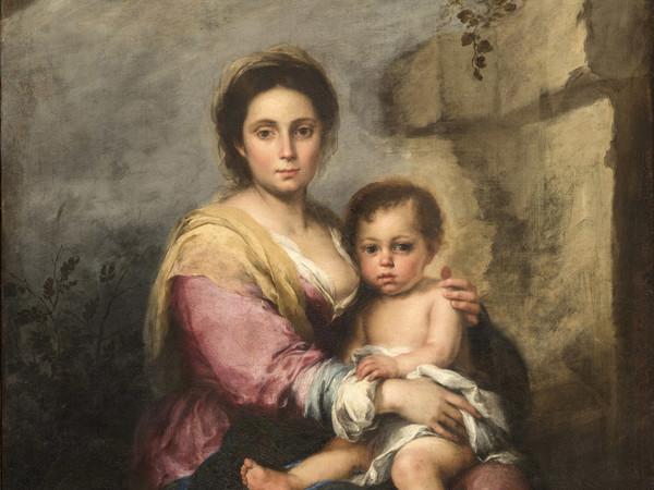 Un dipinto sotto la <em>Madonna zingara</em> della Galleria Corsini