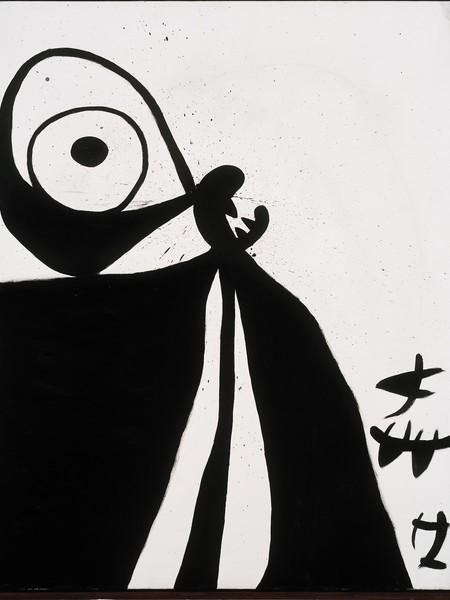 Joan Miró, Senza Titolo, n.d., olio, acrilico e cartoncino su tela, 162,5 x 131 cm
