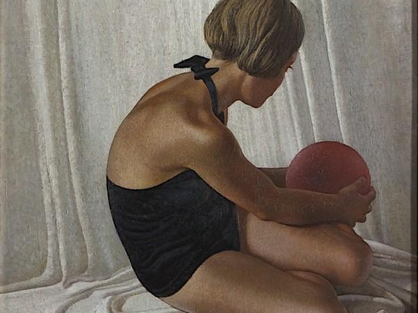 Santo Bidoli, Sirenetta (Bambina con palla), 1935. Olio su tela, 88 x 76 cm. Assicurazioni Generali S.P.A.