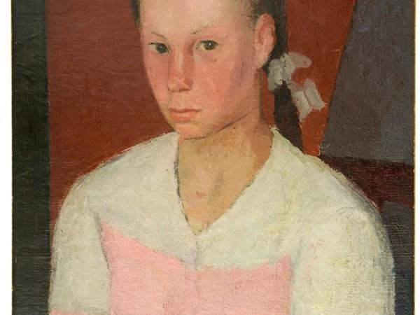 Francesco Verlicchi, Bambina dal grembiule rosa, 1946