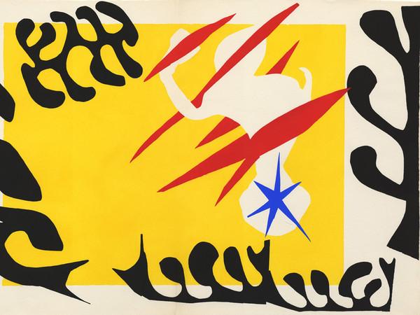 Henri Matisse, <em>Jazz - Cauchemar Clean</em>, 1947. Stampa su stencil incollato su carta, 425 x 328 mm
