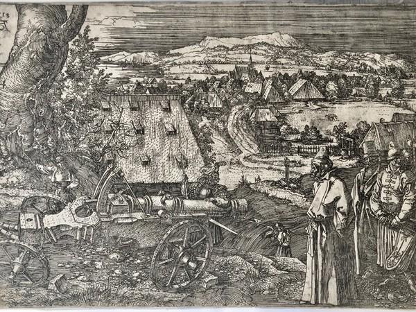 Albrecht Dürer, Il cannone, 1518 Bulino, 220 x 325 mm. Collezione privata