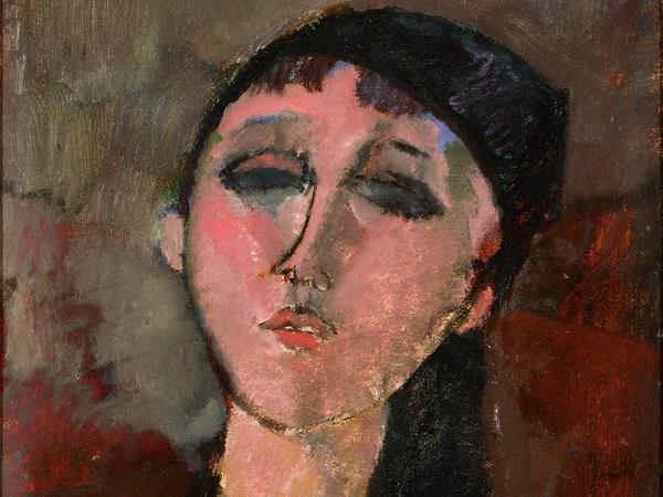 Amedeo Modigliani, Testa di ragazza (Louise), 1915, Olio su cartone riportato su tavola, 37.1 x 51.1 cm, Triton Collection Foundation | Courtesy of Palazzo Ducale, Genova 2017