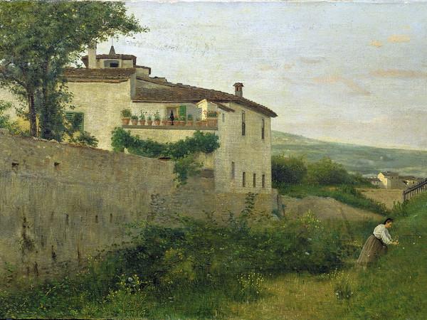 Silvestro Lega, Una veduta in Piagentina, 1863. Olio su tela, 43,4x79,3 cm. Istituto Matteucci, Viareggio