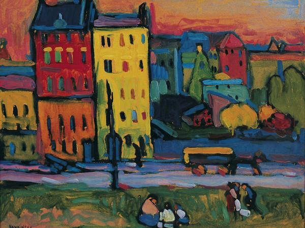 Wassily Kandinsky, Case a Monaco, 1908, olio su tela