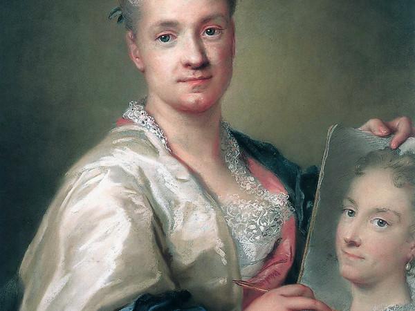 Rosalba Carriera (Venezia, 1675 - Venezia, 1757), Autoritratto con il ritratto della sorella, 1715, Firenze, Galleria degli Uffizi