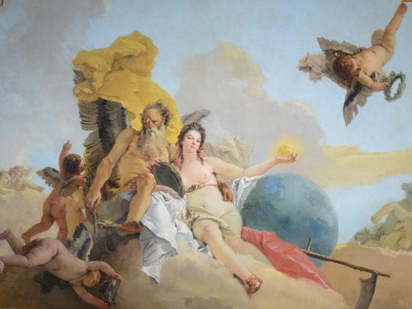 Giambattista Tiepolo,La Verità svelata dal Tempo,1744 circa, Olio su tela, 338 x 251 cm, Musei Civici di Vicenza,Palazzo Chiericati