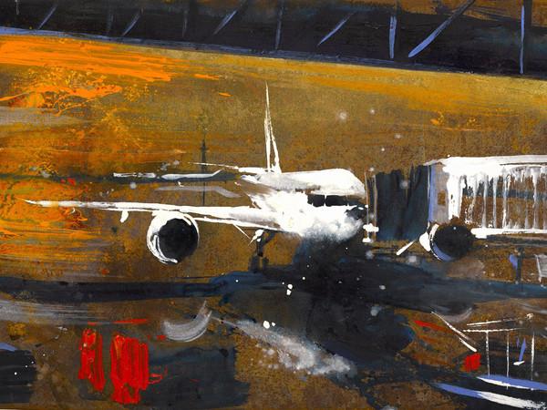 Alessandro Busci, Trittico_arancio, 2017, smalto su ferro enamel on iron, 160x240 cm