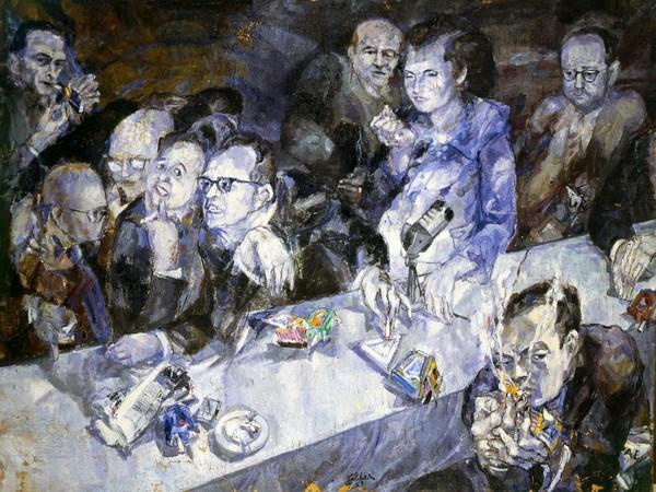 Ennio Calabria La giuria 1959, olio su tela, cm. 133x180