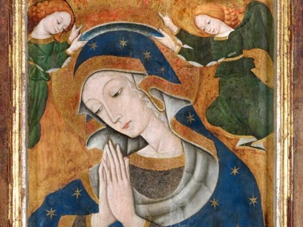 Matteo da Campli, Madonna con Bambino e Sposalizio mistico di Santa Caterina, 1470-1480, MuNDA. Tempera su tavola