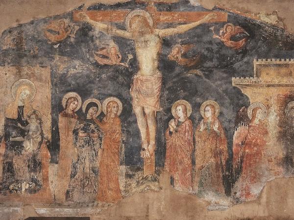 Crocifissione, Maestro di Fossa Trevi, Raccolta d'Arte di San Francesco, affresco staccato