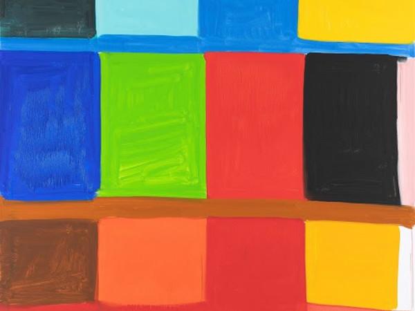 Stanley Whitney, Bertacca 2, 2019, olio su lino, cm. 182.9 × 182.9