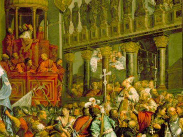 Enrico Dandolo e i crociati nella basilica di San Marco