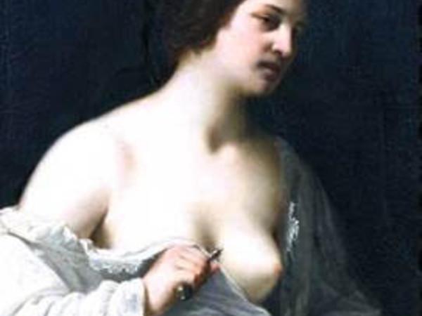 Guido Cagnacci, Lucrezia, olio su tela, 1650 circa