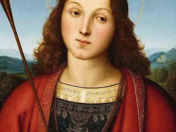 Raffaello Sanzio, San Sebastiano, 1501-1502 ca., tempera e olio su tavola. Accademia Carrara, Bergamo