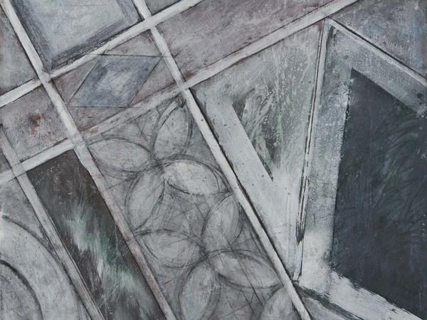 Guido Strazza, <em>Cosmate</em>, 1985, Tempera su tela, 150 x 126 cm | Courtesy of Galleria Giorgio Franchetti alla Ca' d'Oro, Venezia<br />