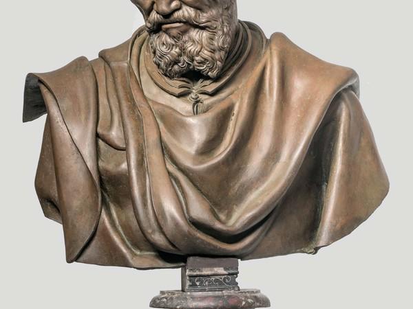 Daniele da Volterra, Busto in bronzo di Michelangelo Buonarroti (dopo il restauro), Galleria dell'Accademia di Firenze<br />