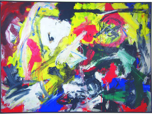 Emilio Vedova,  Venezia, 1919 – Venezia, 2006 Ciclo N.4 '61/'62 1961-1962 olio e carta su tela 146,5 x 200 cm