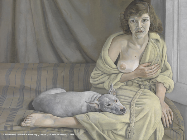 Lucian Freud, Girl with a White Dog, 1950-51, oil paint on canvas