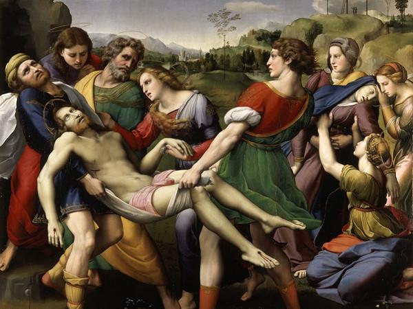 Raffaello Sanzio, Deposizione di Cristo, olio su tavola. Roma, Galleria Borghese