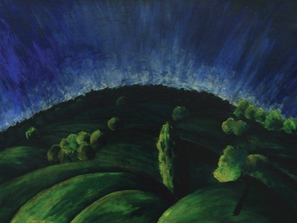 Moholy-Nagy László, Colli di Buda,1918, olio su tela, 63x94 cm. Debrecen, Collezione Antal – Lusztig