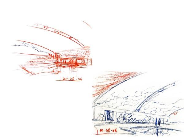 Francesco Venezia, Schizzo di studio, Museo della stratigrafia storica, 2006. Toledo, Spagna