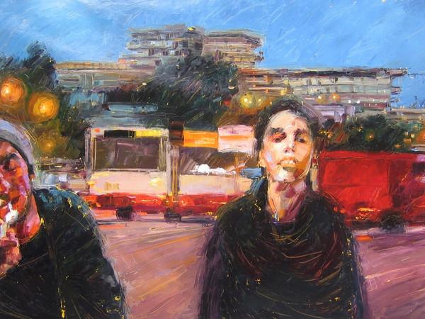 Mario Ferrante, Giro girotondo, 2006, olio su tela, cm. 220x400