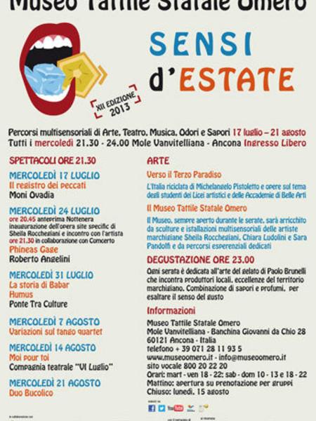Sensi d'estate 2013. XII Edizione, Mole Vanvitelliana, Ancona
