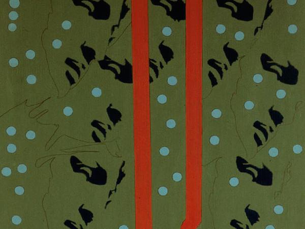 Tano Festa, Michelangelo according to Tano Festa, (part.) 1967, smalto su tela, cm 182,5x91.Roma, Galleria Nazionale d'Arte Moderna, inv. 12839 (dono Luigi De Conciliis)<br /><br />