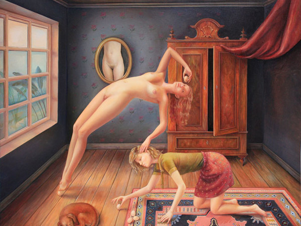 Ilaria Del Monte, L'armadio Normanno, 2013, olio su tela
