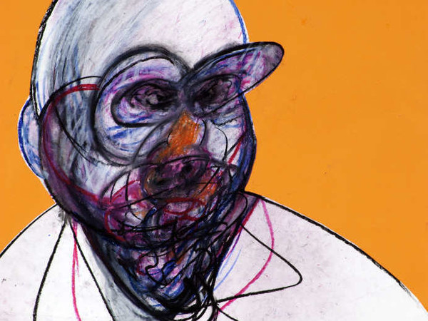 Francis Bacon, <em>Portrait</em>, Pastel and collage on paper, 100 x 70 cm