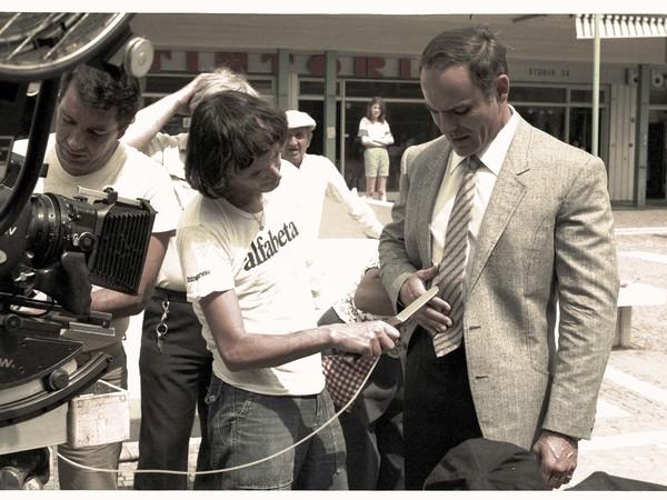 Franco Bellomo, Dario Argento, Foto di set