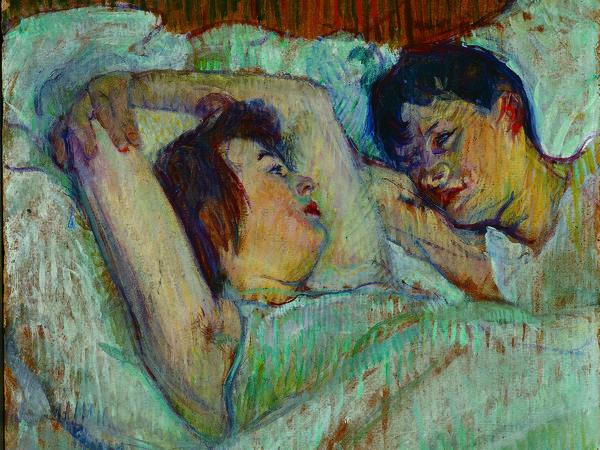 Henri de Toulouse-Lautrec, <em>Au lit</em>, 1892, Olio su cartone, Foundation E.G. Buehrle Collection, Zurich