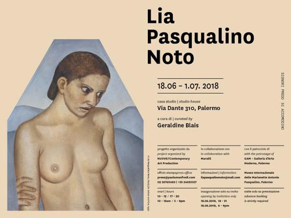 Lia Pasqualino Noto, Casa Studio, Palermo