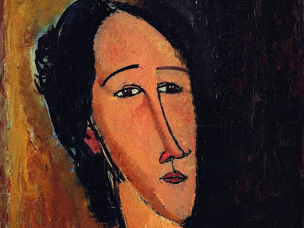 Amedeo Modigliani, Testa di Hanka Sborowska, 1917 Olio su tela, 37.3 x 54 cm, Collezione privata | Courtesy of Palazzo Ducale, Genova 2017