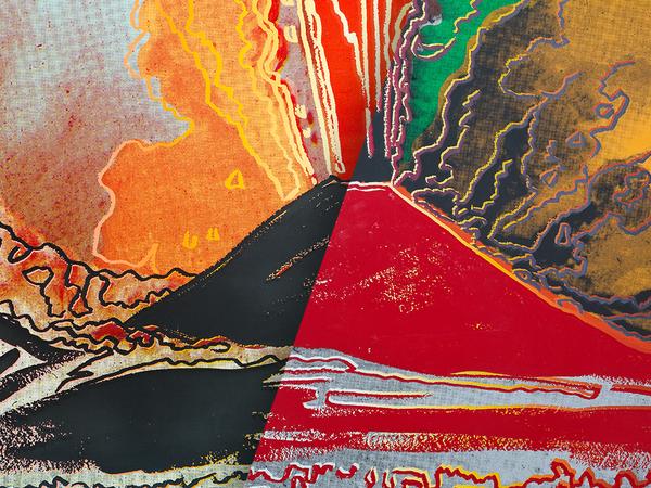 """Andy Warhol, Vesuvius (nero) e """"Vesuvius (rosso)"""